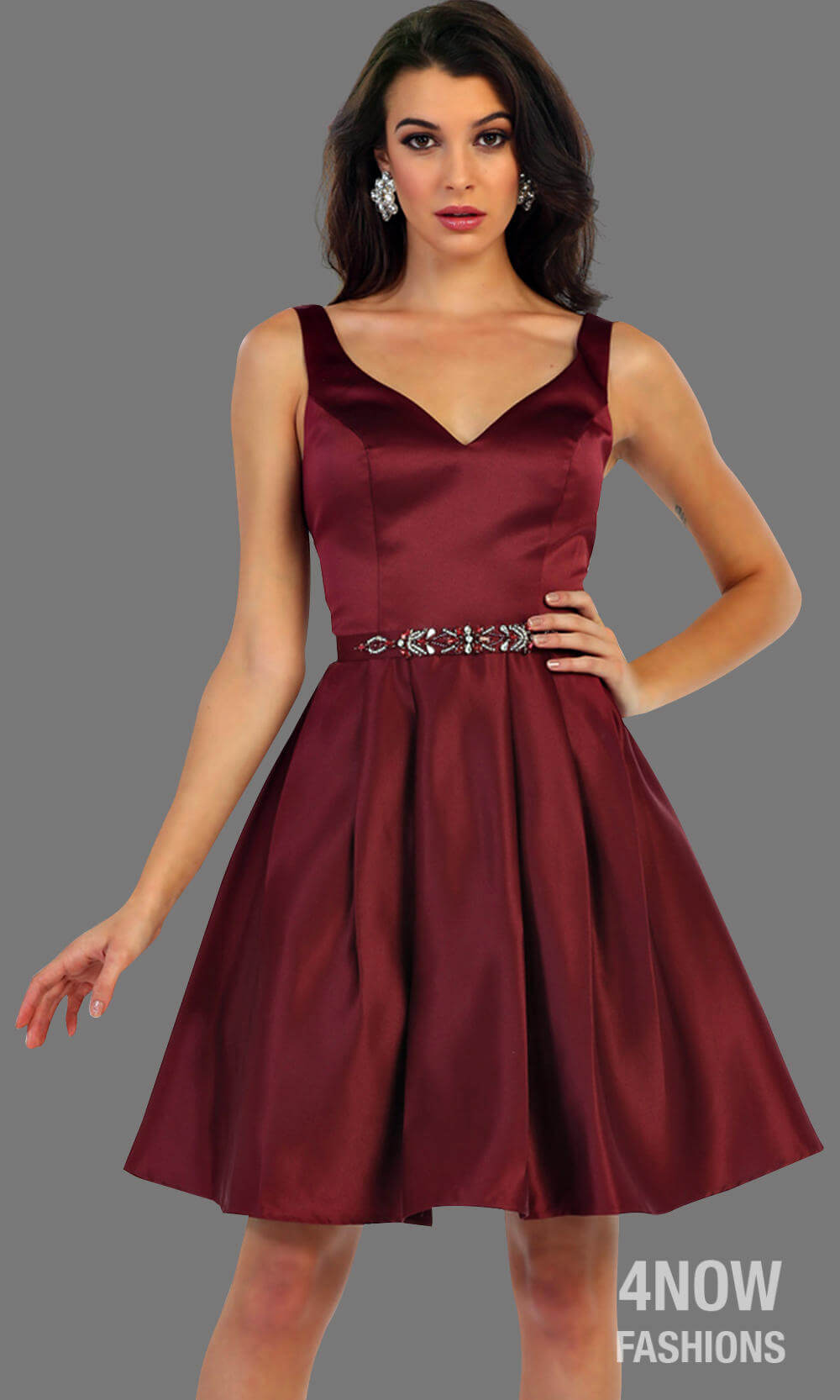 Short Taffeta Dress