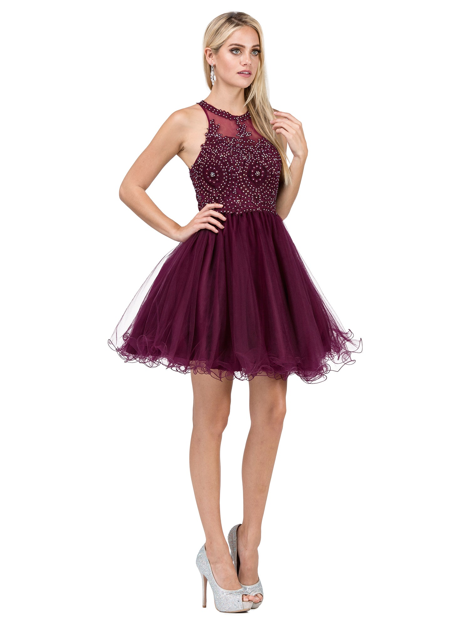 Short Puffy Graduation Dress