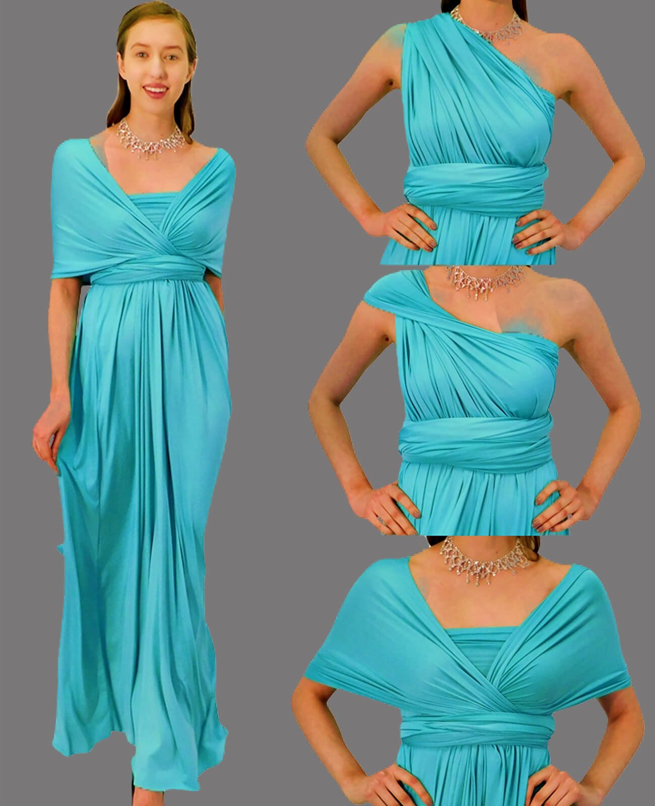 Infinity Dress in Tiffany Blue