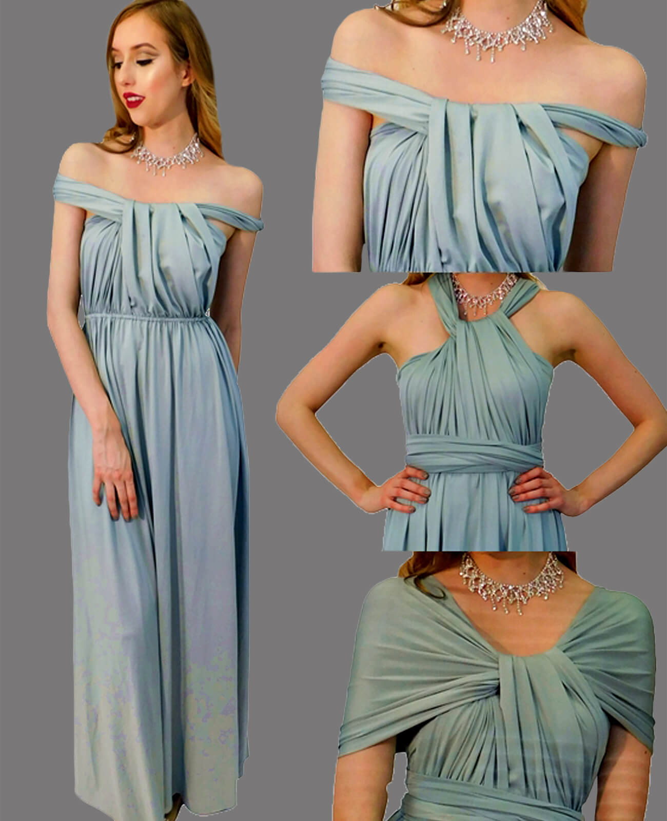 Infinity Dress in Turquoise
