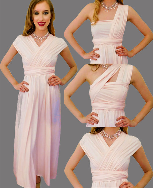 Infinity Dress in Blush