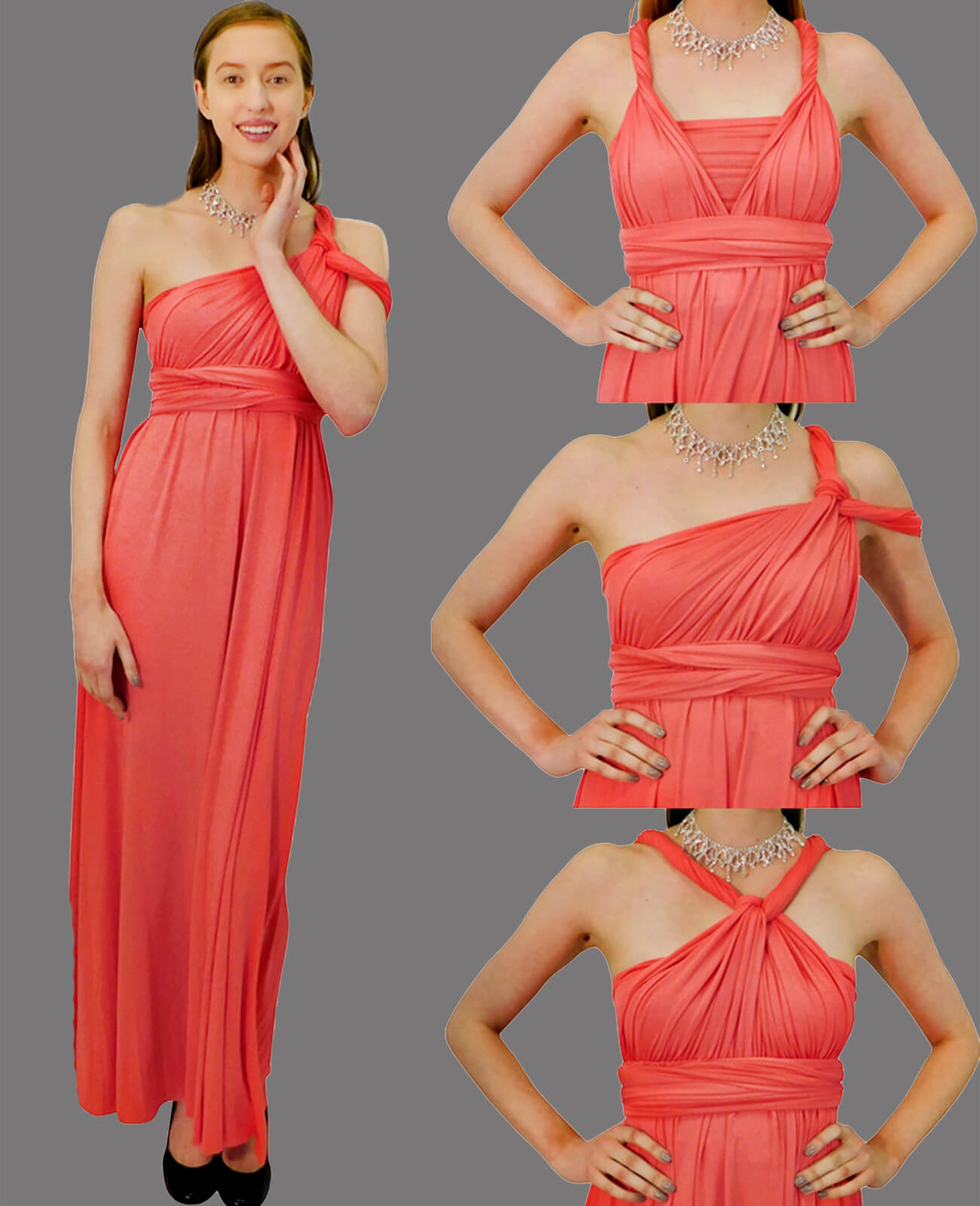 Infinity Dress in Coral