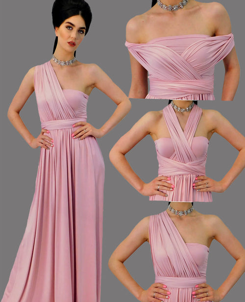 Infinity Dress in Dusty Rose