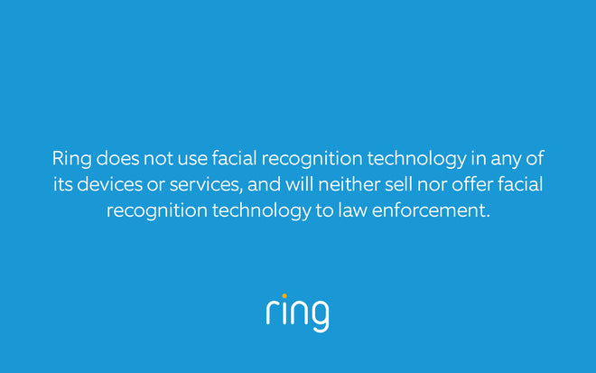 Ring's Stance on Facial Recognition Technology
