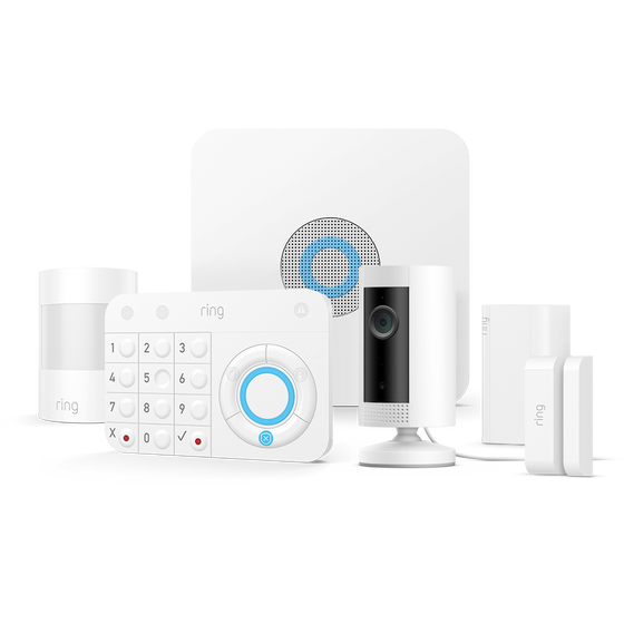 Ring - Alarm Security 5 Piece Kit  + Indoor Cam