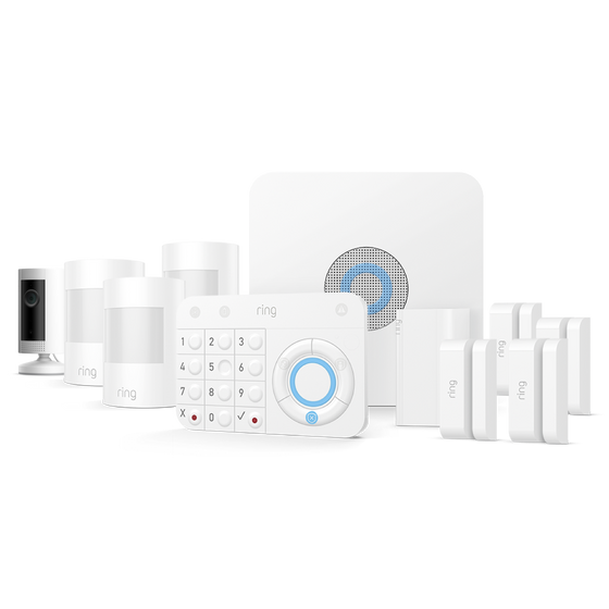 Ring - Alarm Security 10 Piece Kit  + Indoor Cam
