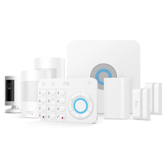 Ring - Alarm Security 7 Piece Kit + Indoor Cam