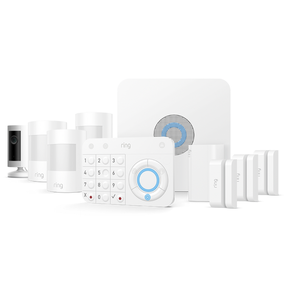 Ring - Alarm Security 9 Piece Kit  + Indoor Cam