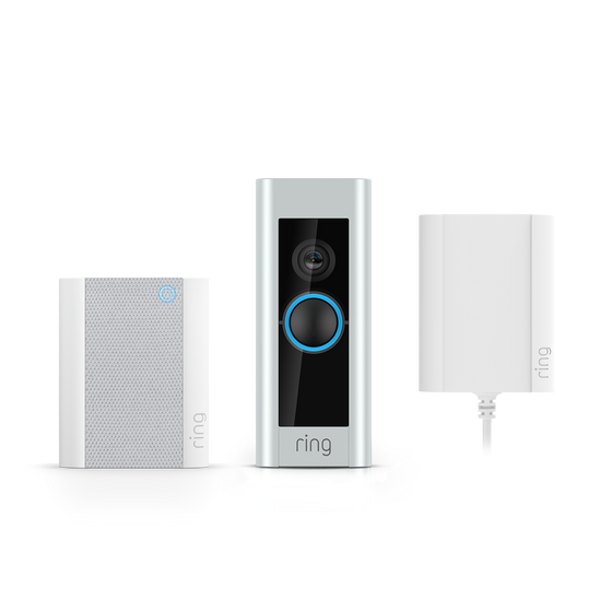 Ring - Video Doorbell Pro with Plug-in Adapter and Chime
