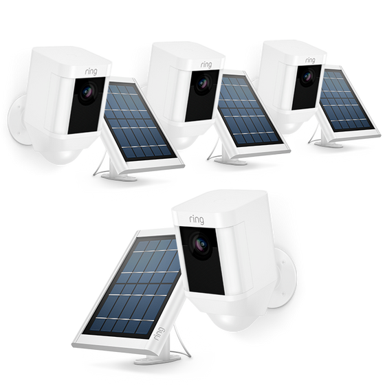 Ring - 4-Pack Spotlight Cam Solar