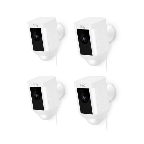 Ring - 4-Pack Spotlight Cam Wired