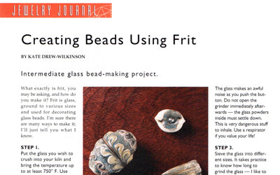 Creating Beads Using Frit