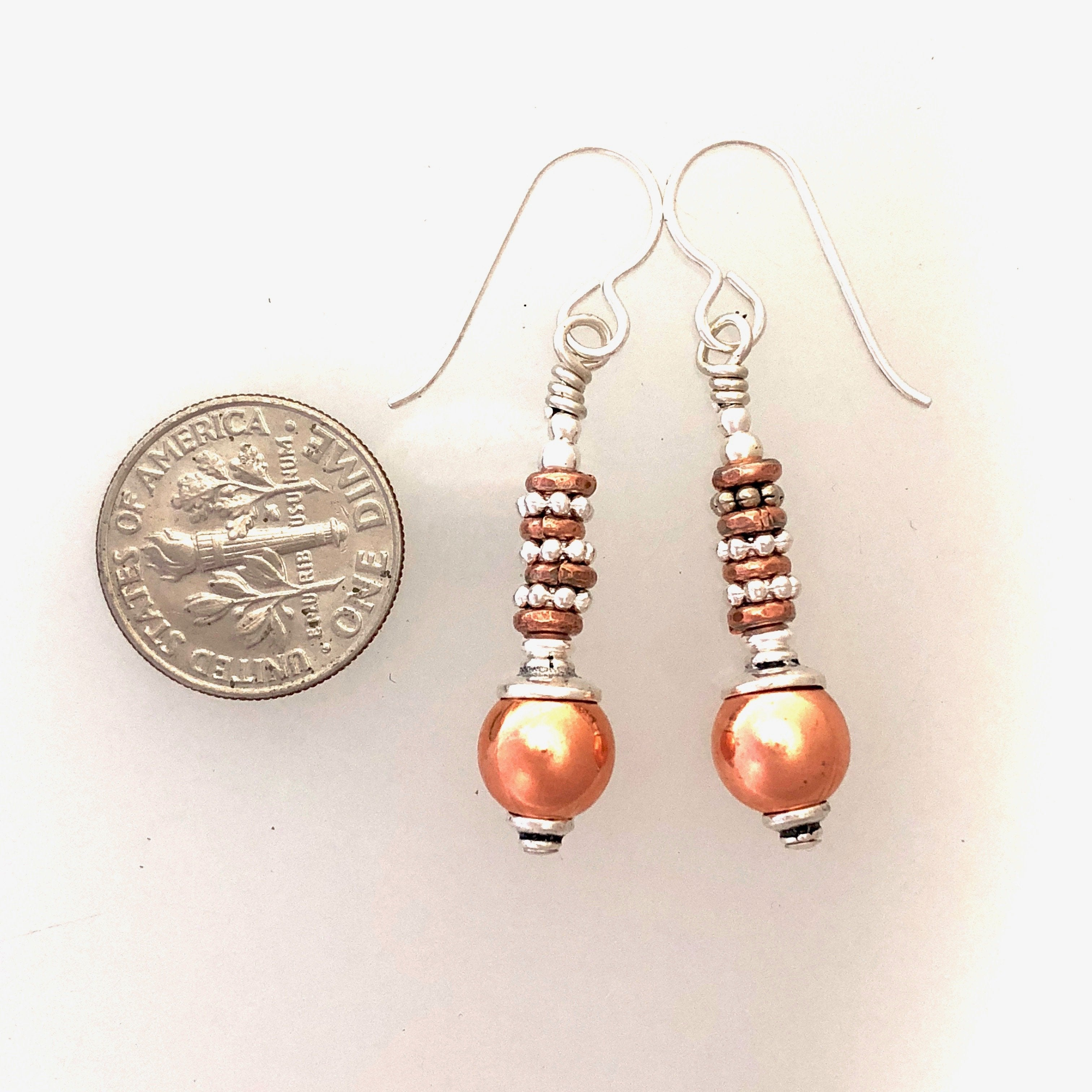 Bisbee Collection Copper and Silver Earrings