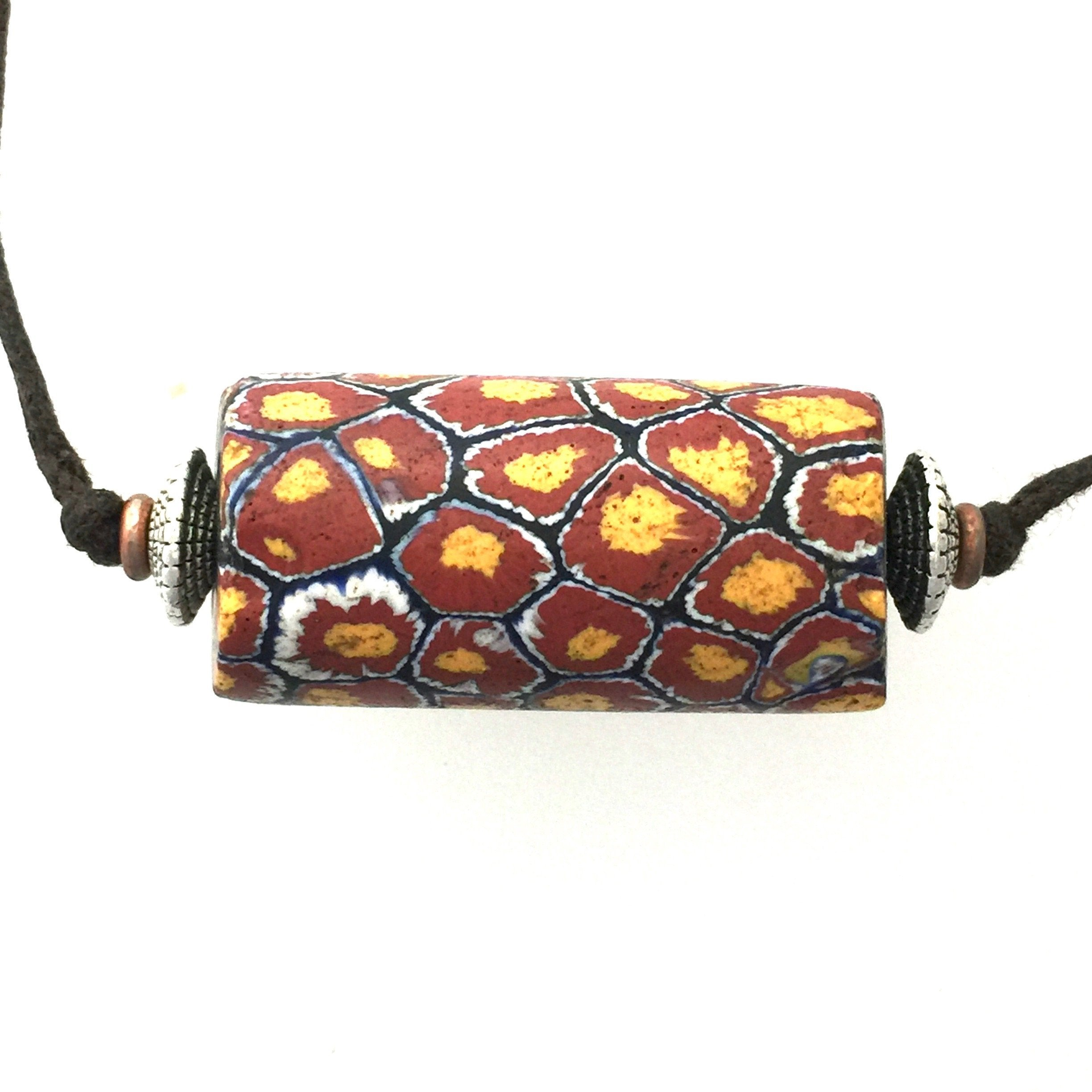 "African Trade Bead ""Giraffe"" design early 1900s"