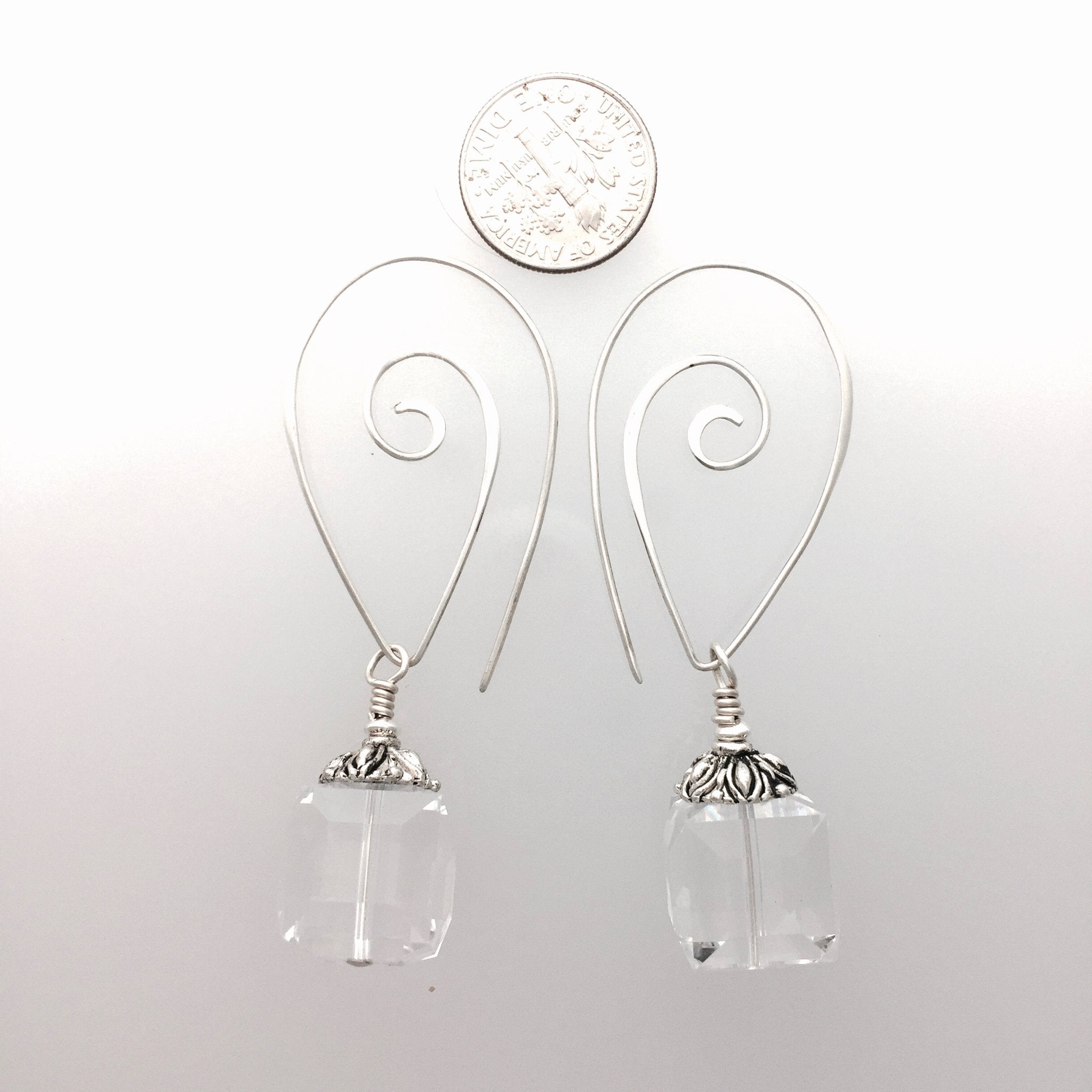 Swarovski Crystal Vintage 14mm Cube Earrings