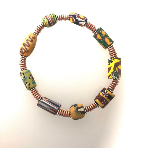 Bracelet Rare African Trade Beads No Clasp 7 inches