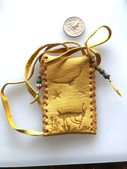 Medicine Bag in Deerskin with Kokopelli #2