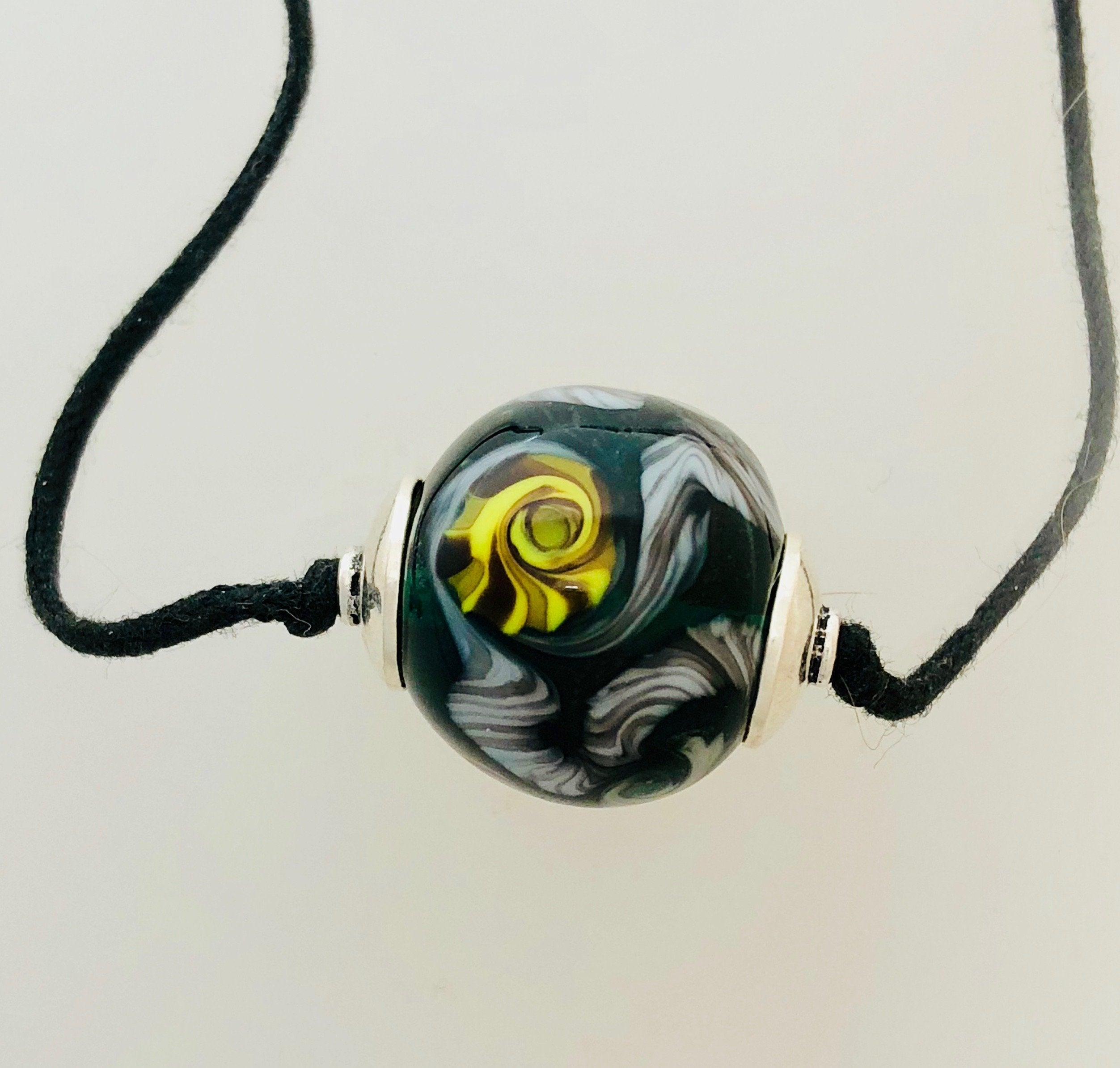 Spacey Lampwork Necklace by Kate