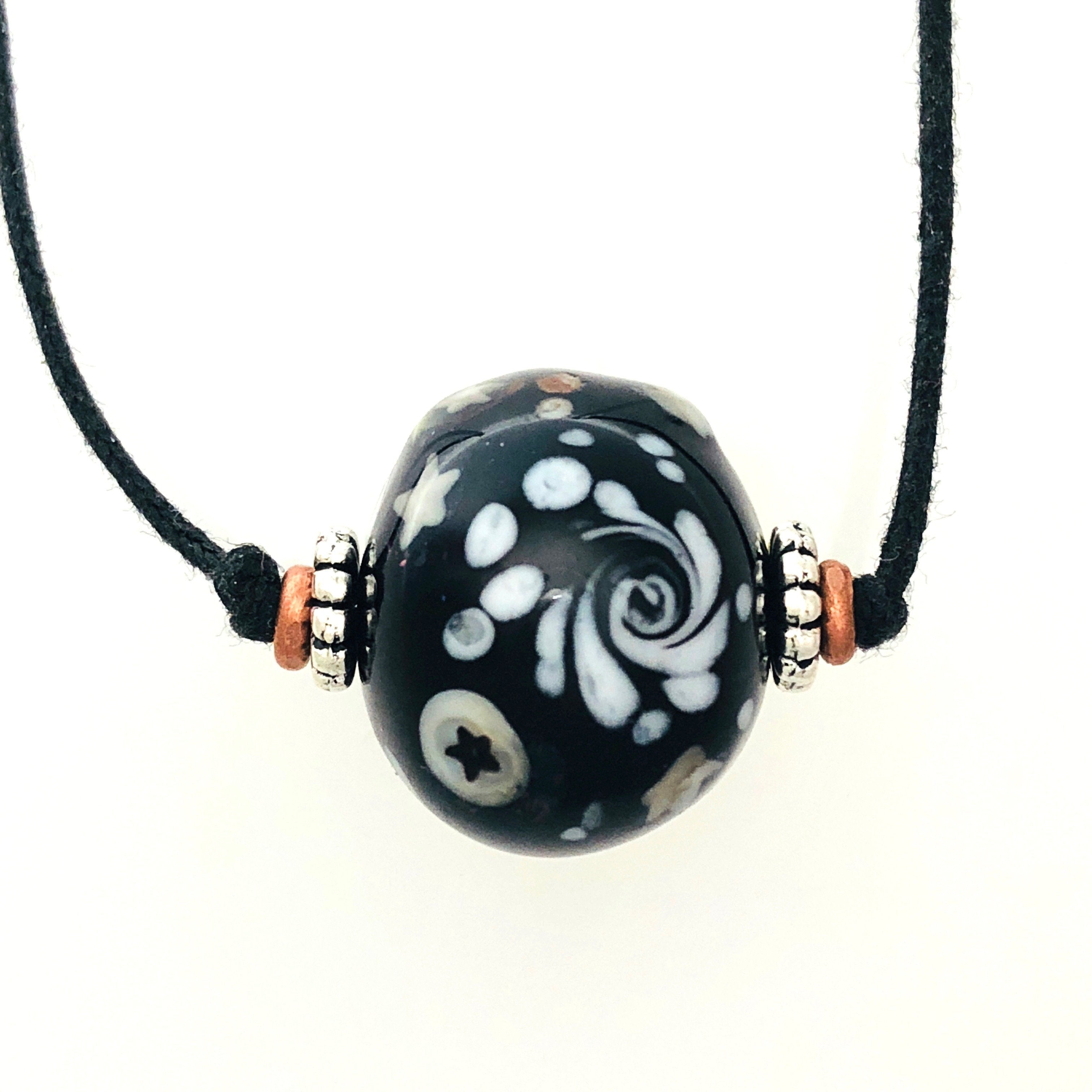Spacey Bead Lampwork Necklace by Kate