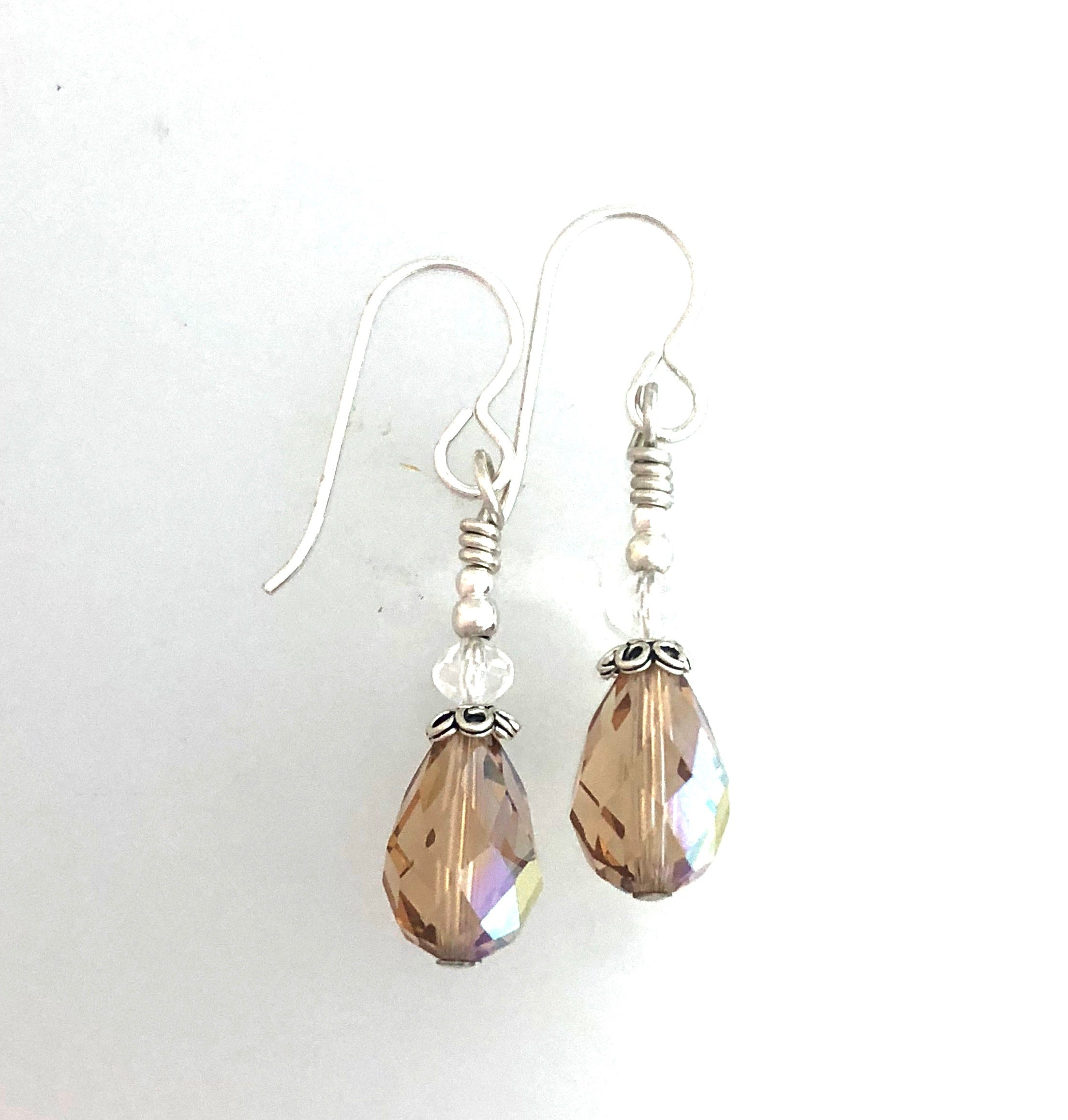 Swarovski Colorado Topaz AB Drop Earrings