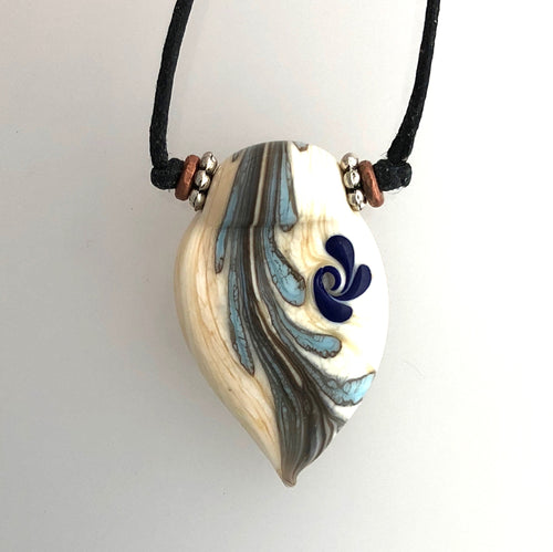 Small Lamp Work Pendant with Ivory Matrix