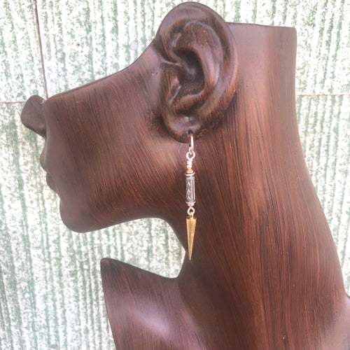 Long Dangle Earrings French Clockweights