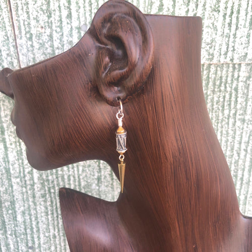 Earrings Dangle French Clock Weights