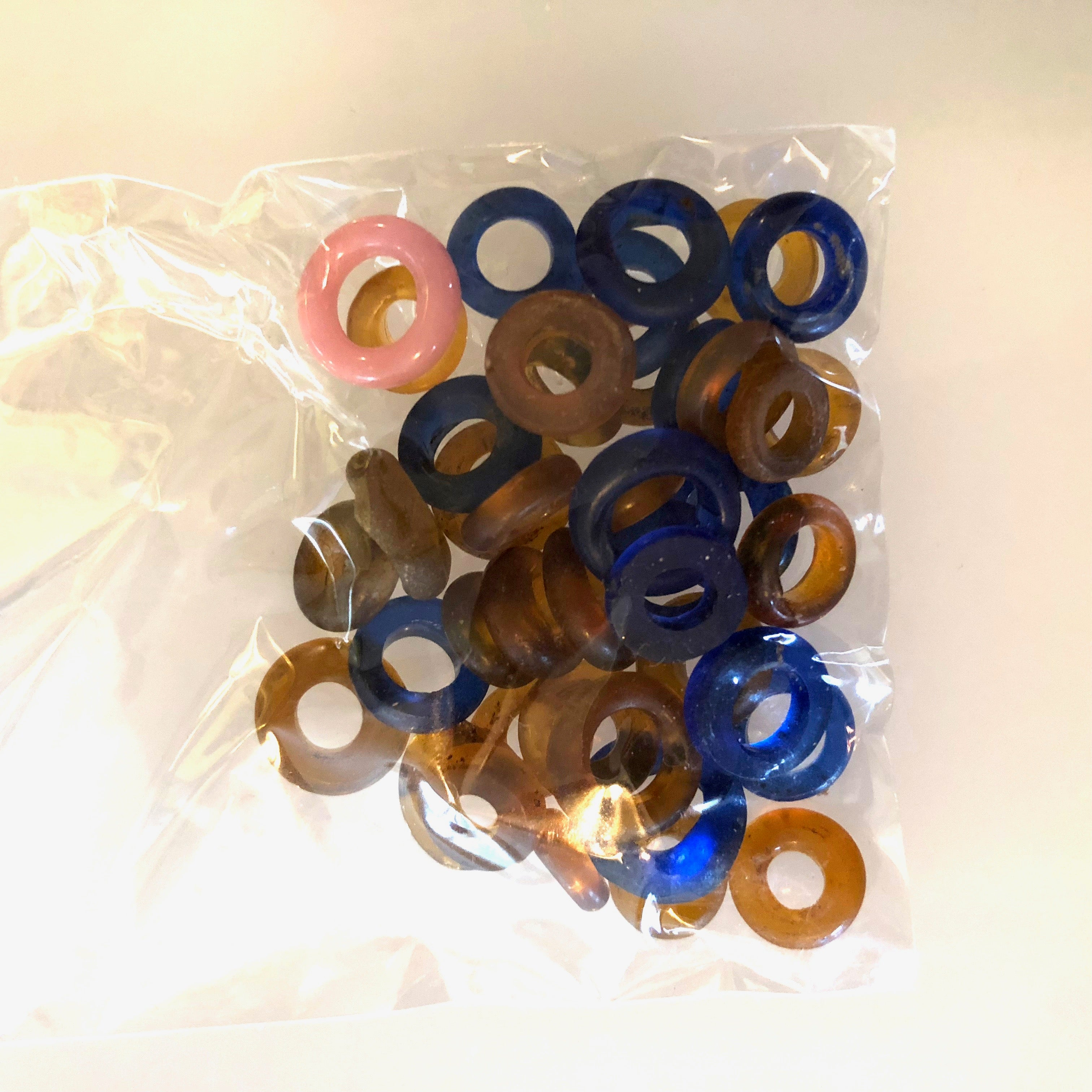 Antique Glass    Annular Beads