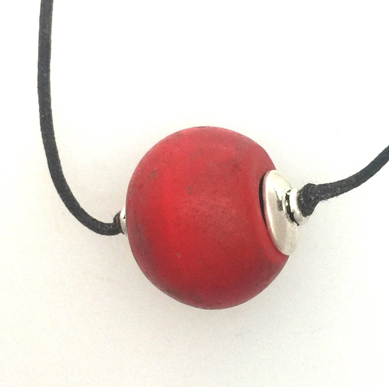 Red Classic Czech Antique Bead Necklace #1