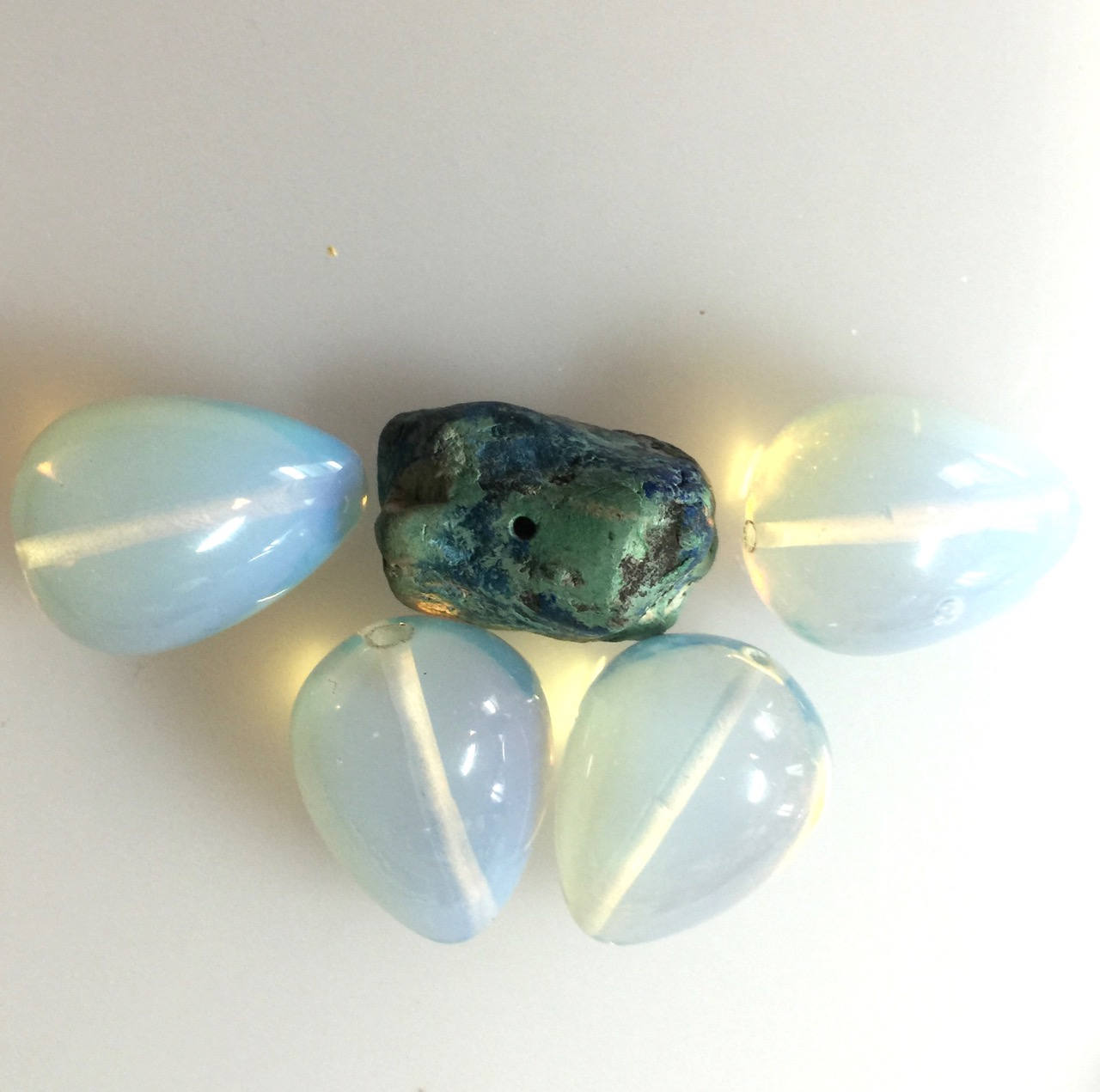 Opalite Bead Destash With Turquoise | Supplies
