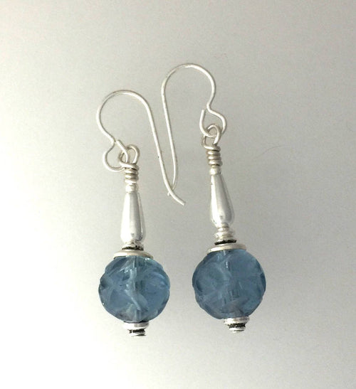 Antique Blue Peking Glass | Earrings