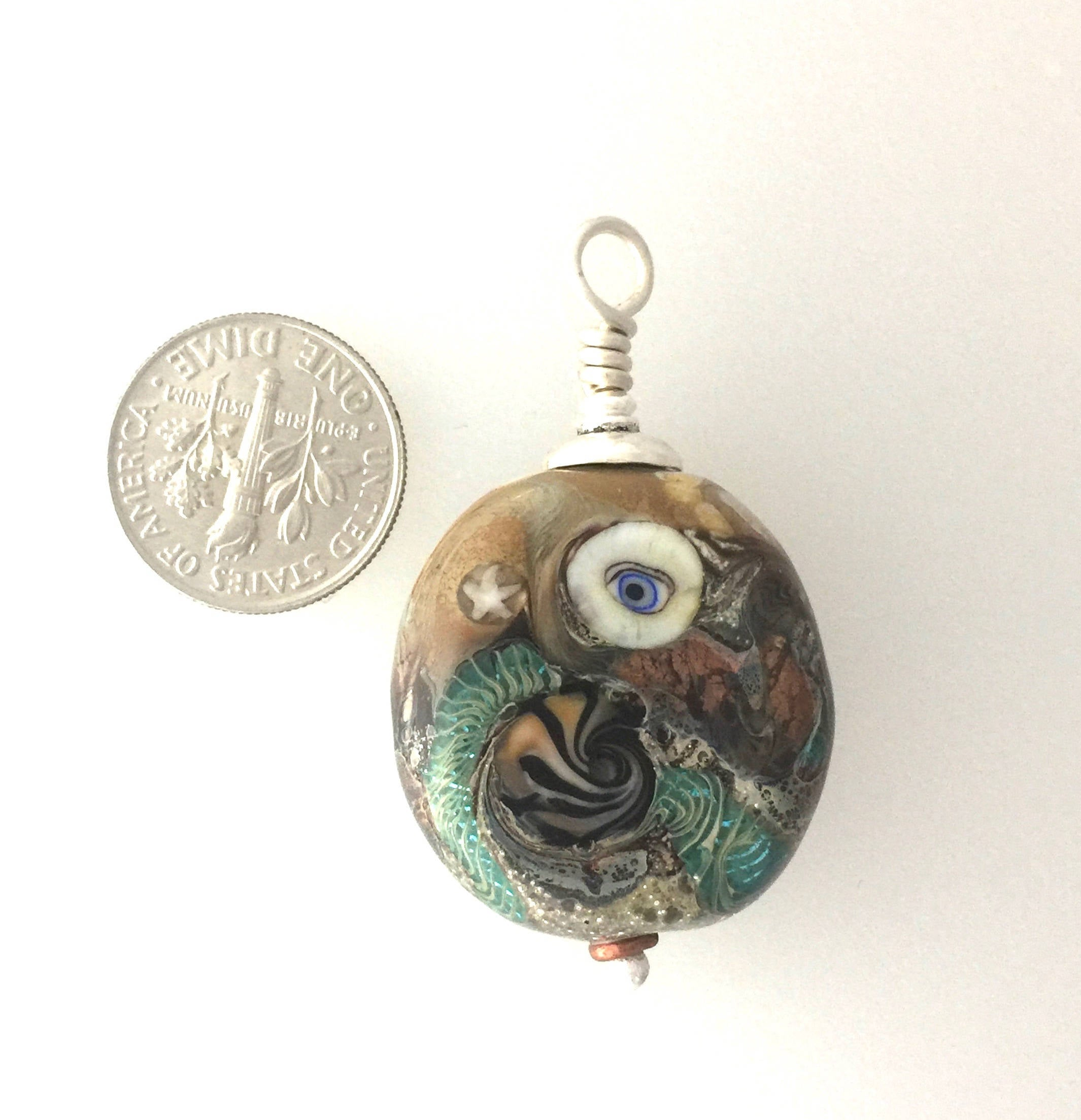 Lamp Work Eye Bead and Elements