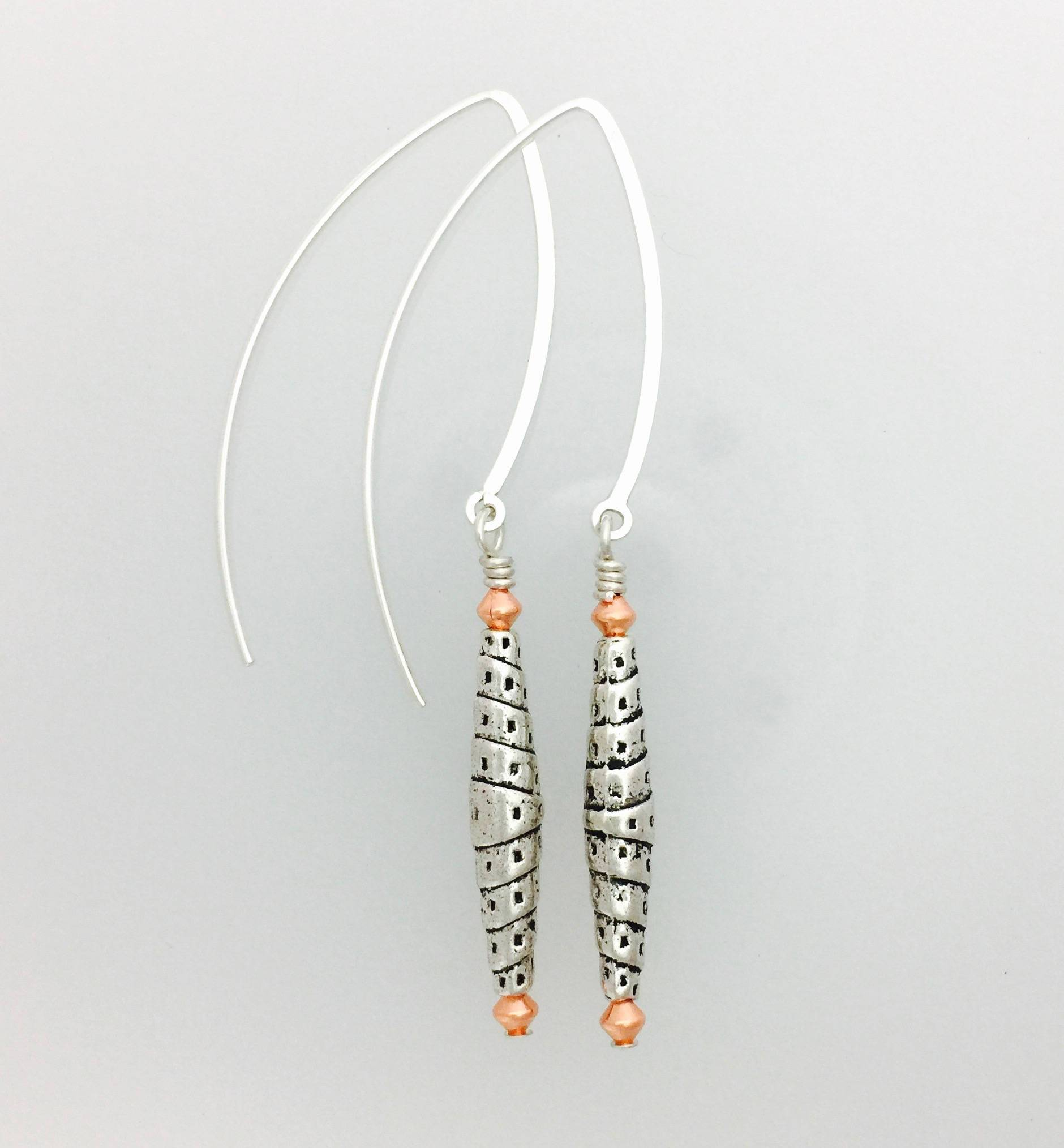 Lead Safe Pewter and Sterling Silver Earrings