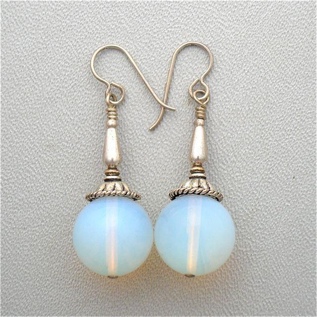 Opalino Glass and Sterling Silver | Earrings