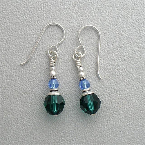 Swarovski Crystal Earrings on Sterling Silver