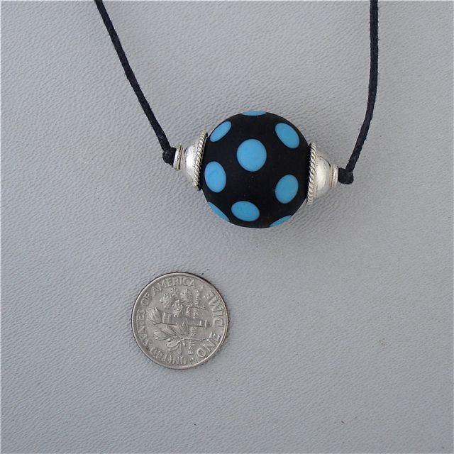 Polka Dots Lampwork Necklace by Kate