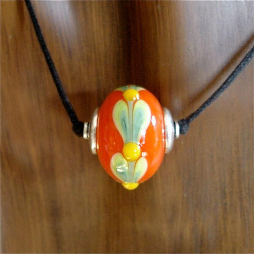Vermillion Lampwork Necklace by Kate
