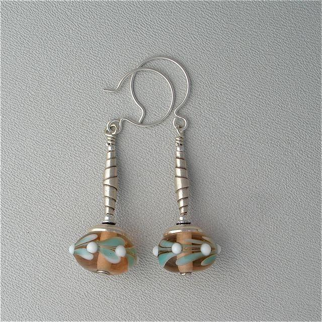 Lampwork Spring Colors Earrings by Kate