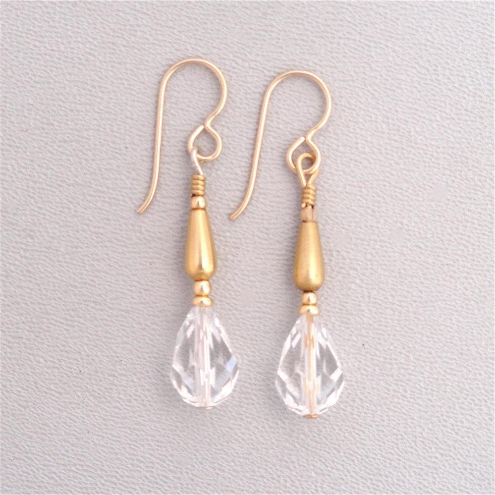 Swarovski Crystal Drops in 14k Gold Filled