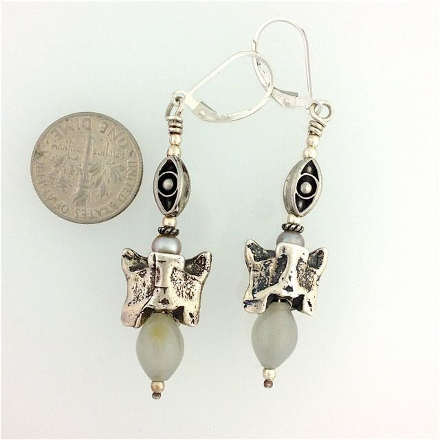 Sterling Silver Snake Vertebrae Earrings from Kate D-W Personal Collection