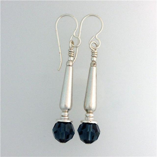 Swarovski Crystal Montana Earrings on Sterling Silver