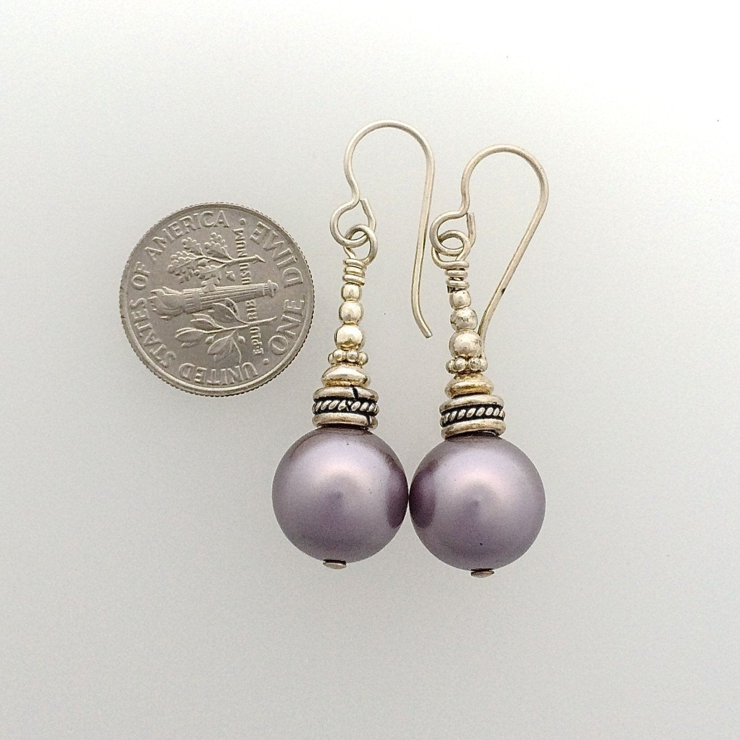 Swarovski Pearl Earrings in Sterling Silver
