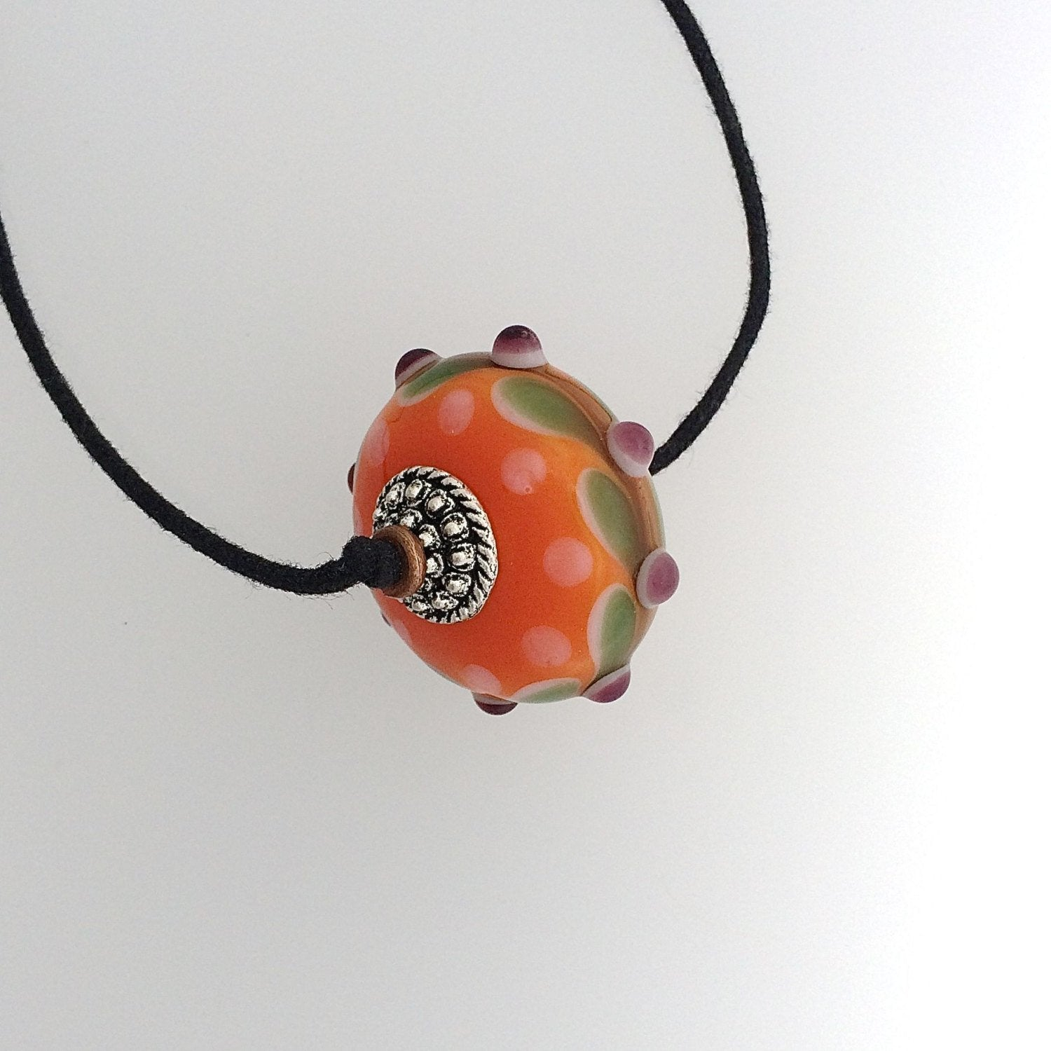Orange Lampwork Necklace by Kate
