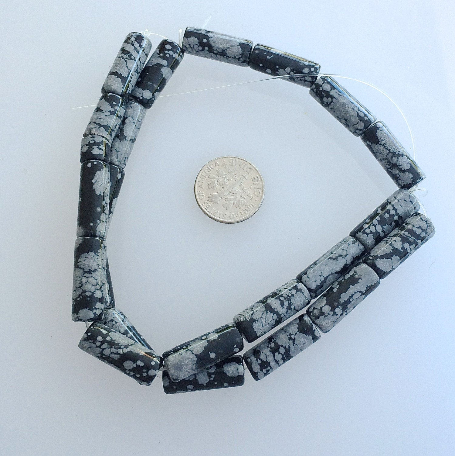 Snow Flake Obsidian Strands | Beads