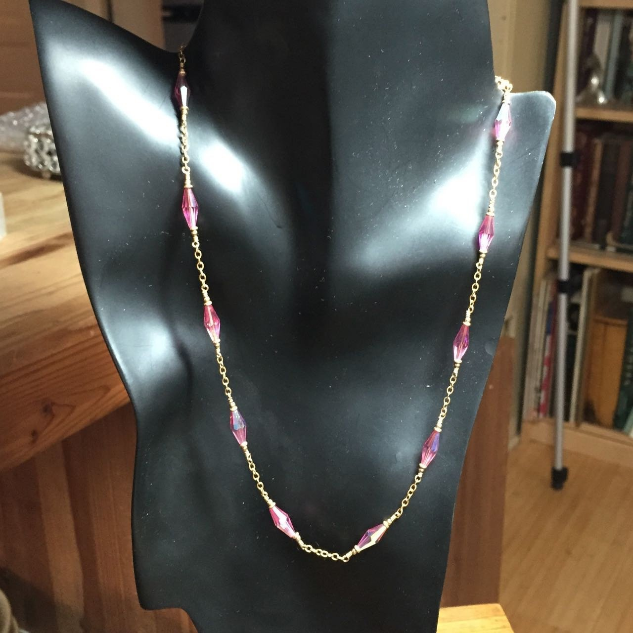 Swarovski Crystal Necklace in 14k Gold Filled 18""
