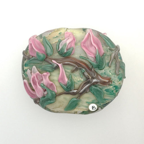 Lamp Work Large Flower Focal Bead-
