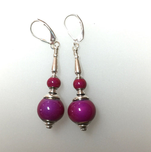 Pink Color Changing Bead Earrings Sensational!