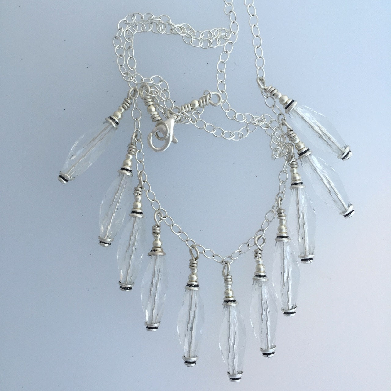 Rare Clear Swarovsky Crystal Beads in Necklace  by Kate Drew-Wilkinson