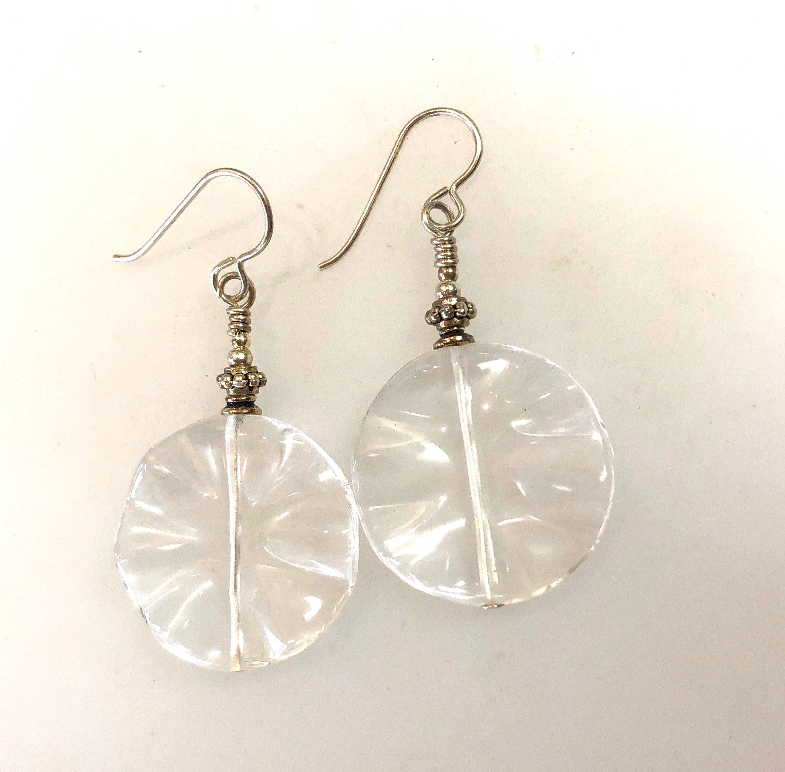 Earrings Quartz Crystal and Sterling Silver