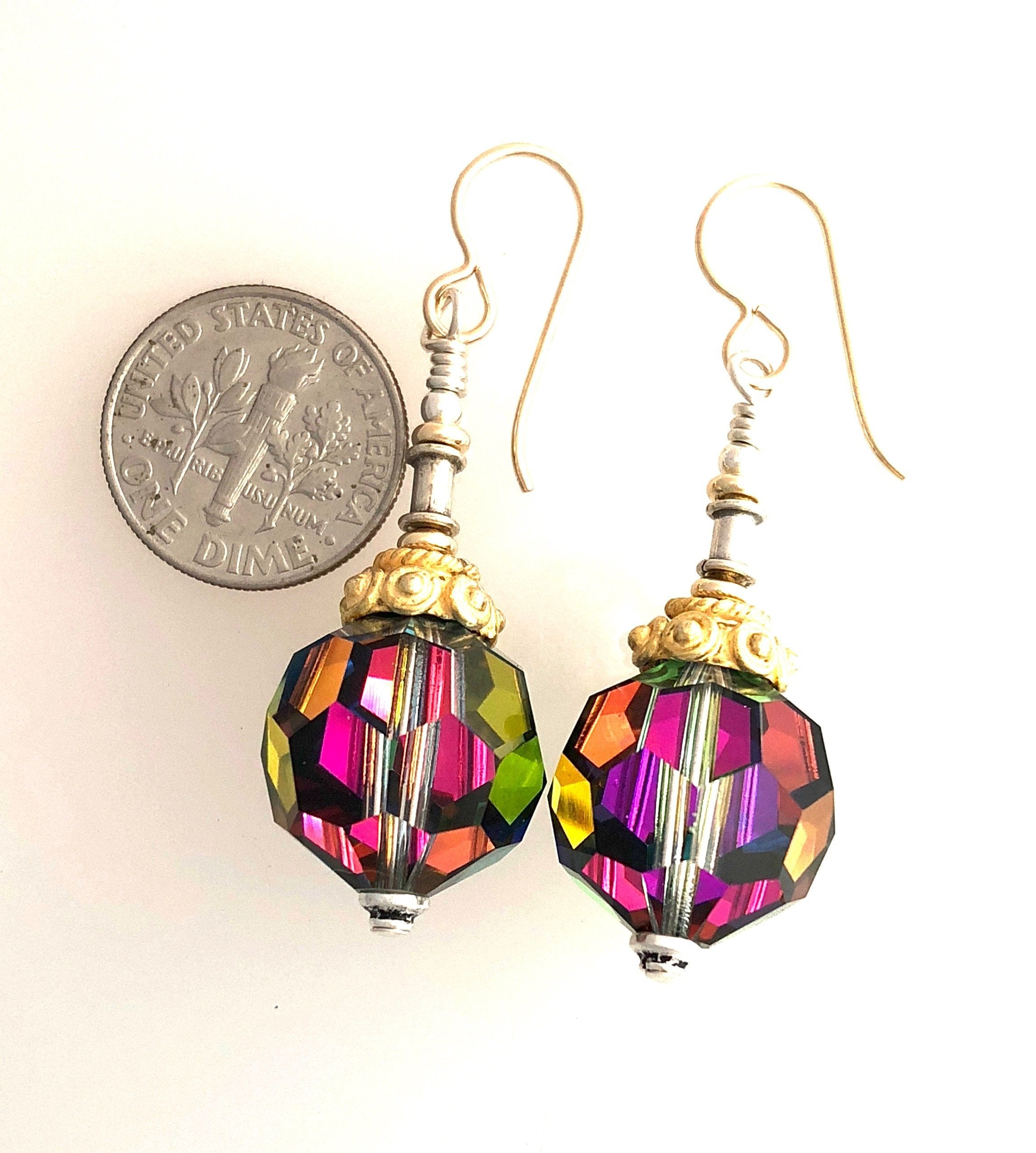 Rare Swarovski Vitrail Earrings